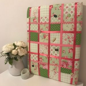 Other - Handmade Pink Quilted Keepsake Board